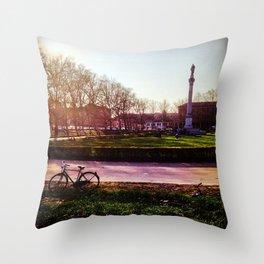 La Bici Throw Pillow
