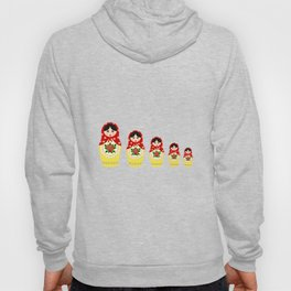 Red russian matryoshka nesting dolls Hoody