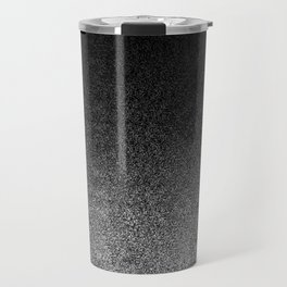 Silver & Black Glitter Gradient Travel Mug