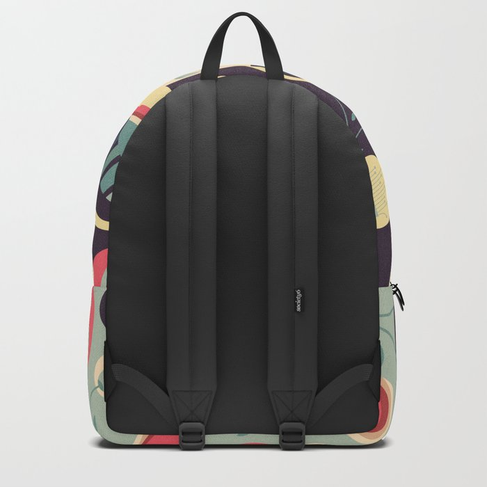 50's floral pattern II Backpack