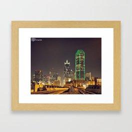 Dallas Skyline Framed Art Print