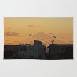 Mt. Fuji Sunset Rug
