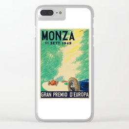 Grand Prix Monza, 1949, Gran Premio Monza, vintage poster Clear iPhone Case