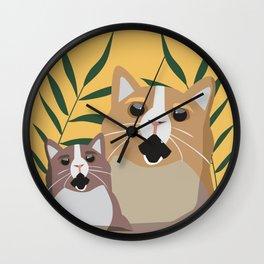 Screaming Cats Wall Clock