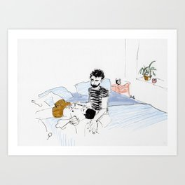 we don't have to leave Art Print