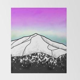 Whiteface mountain Throw Blanket