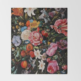 Night Garden XXXVI Throw Blanket