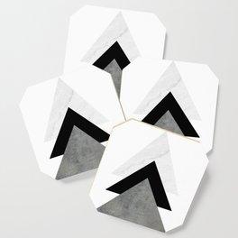 Arrows Monochrome Collage Coaster