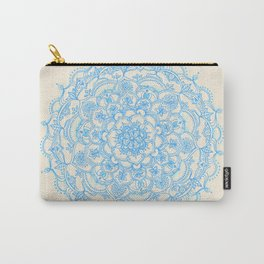 Pale Blue Pencil Pattern - hand drawn lace mandala Carry-All Pouch