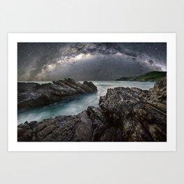 Milky Way Over the Ocean Art Print