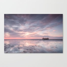 Ribble Remnants Sunset Canvas Print