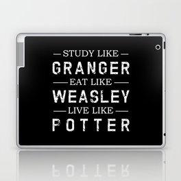STUDY LIKE GRANGER, EAT LIKE WEASLEY, LIVE LIKE POTTER Laptop & iPad Skin