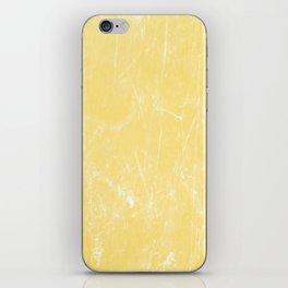 Flaxen Yellow iPhone Skin
