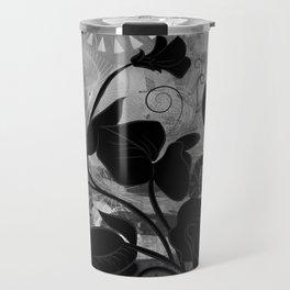 Queen Sweet Pea -- grayscale Travel Mug
