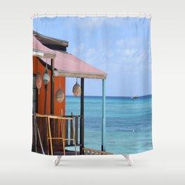 Grand Turk Bungalow Shower Curtain