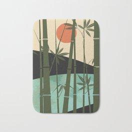 Bamboo curtain Bath Mat