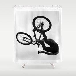 Flying Bike Shower Curtain