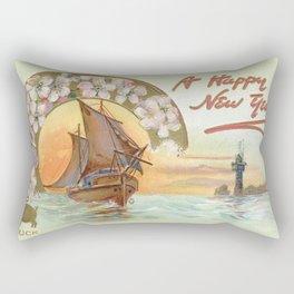 Vintage Postcard - Happy New Year Rectangular Pillow