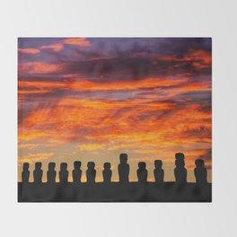 EASTER ISLAND SUNRISE Throw Blanket
