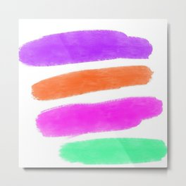 Simple Paint Strokes with White Background Metal Print
