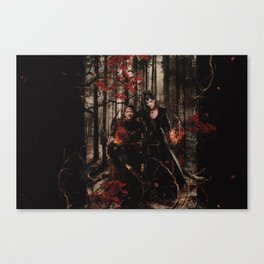 Outlaw Queen - Prince of Thieves and The Queen Canvas Print