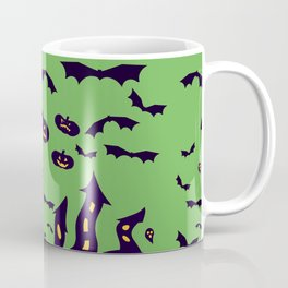 Green Haunted Houses Coffee Mug