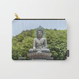 A Monk at the Bronze Buddha Carry-All Pouch