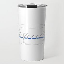 Twin Cities METRO Blue Line Map Travel Mug