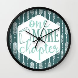 One More Chapter - Dark Tribal Wall Clock
