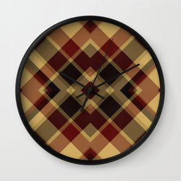 Colors Of Christmas (Plaid 3) Wall Clock