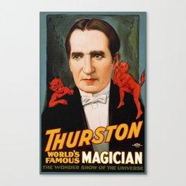 Thurston World Famous Magician Canvas Print