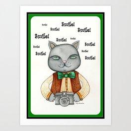 Kitty Cat Photographer Art Print