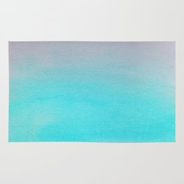 Ombre watercolor turquoise Rug