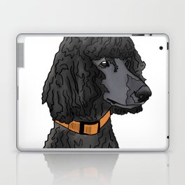 Misza the Black Standard Poodle Laptop & iPad Skin