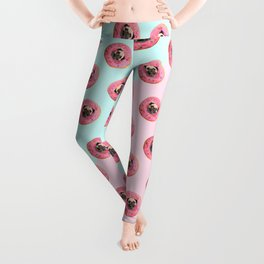 Pug Strawberry Donut Leggings