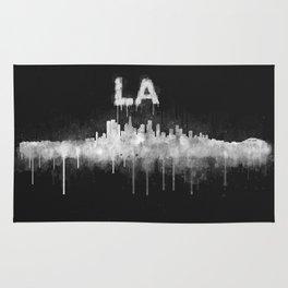 Los Angeles City Skyline HQ v5 WB Rug