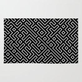 straight labyrinth Rug