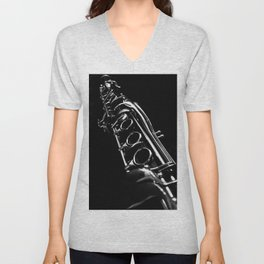 B&W Clarinet Unisex V-Neck