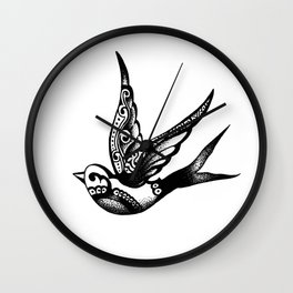 Swallow #1 Wall Clock