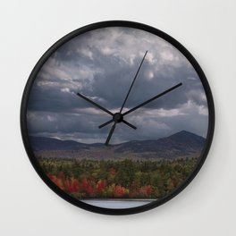 Autumn Mountains Wall Clock
