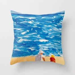 Beach Memories Throw Pillow