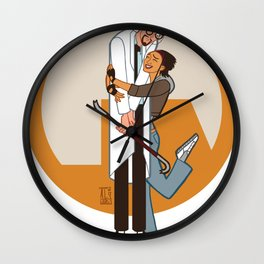Lambda is for Love Wall Clock