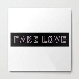 BTS Fake Love Metal Print