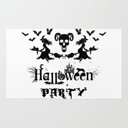 Happy Halloween Party -  Perfect gift idea for everyone on Halloween Holiday. Rug