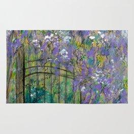 Purple Bush by the Gate Rug