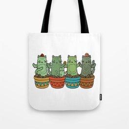 Catcus Garden (Single Row) Tote Bag