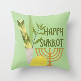 Sukkot Shalom Best Wishes for the Sukkot Holiday Throw Pillow