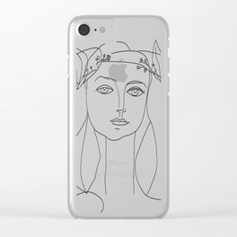 Picasso Line Art - Woman's Head Clear iPhone Case