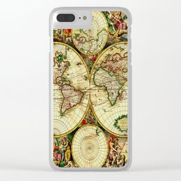 Ancient World Map 1689 Clear iPhone Case