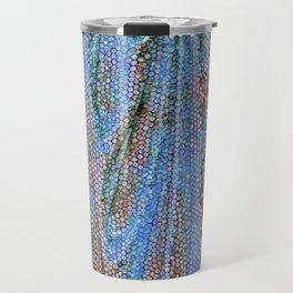 Caryatid in Blue Two Travel Mug